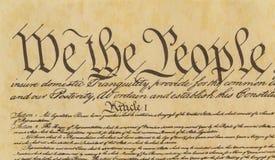我们人民-序文前面紧的射击  免版税图库摄影