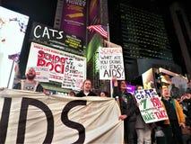我们仍然死的一团援助抗议NYC 2017年11月29日 免版税库存图片