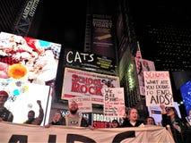 我们仍然死的一团援助抗议NYC 2017年11月29日 免版税库存照片