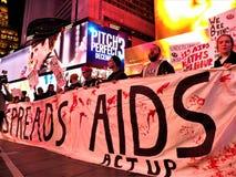 我们仍然死的一团援助抗议NYC 2017年11月29日 图库摄影