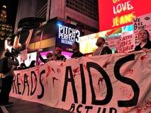 我们仍然死的一团援助抗议NYC 2017年11月29日 免版税图库摄影