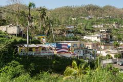 我们关于寂静的美国人的`在波多黎各 库存图片