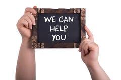 我们可以帮助您 免版税库存图片