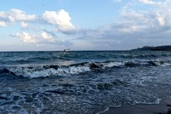 我们喜爱的美丽的傲德萨海 库存照片