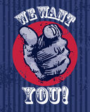 我们想要您海报 图库摄影
