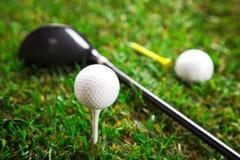 我们播放高尔夫球一回合!! 免版税库存图片