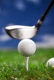我们播放高尔夫球一回合/closeup 图库摄影