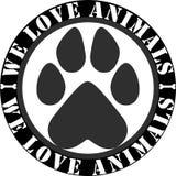 我们爱动物商标 库存图片