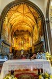 我们的假定的夫人大教堂在丰沙尔,马德拉岛海岛,葡萄牙 免版税库存照片