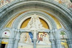 我们的卢尔德圣所大教堂的夫人 免版税库存图片