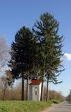 我们的卢尔德的夫人教堂在Drnek,克罗地亚 库存图片