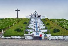 我们的和平教堂,圣地米格尔海岛,亚速尔群岛,葡萄牙的夫人 库存照片
