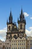 我们的在Tyn,布拉格之前的夫人教会  免版税库存照片