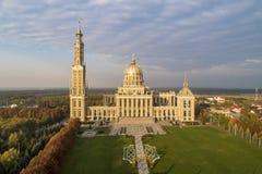 我们的地衣的夫人大教堂在波兰 鸟瞰图 库存照片