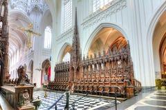 我们的夫人内部大教堂,安特卫普,比利时 免版税库存图片