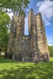 我们的夫人哥特式大教堂的废墟  库存图片