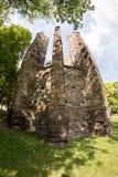 我们的夫人哥特式大教堂的废墟  库存照片