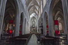 我们的夫人大教堂在安特卫普 免版税库存图片