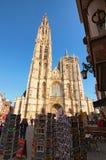 我们的夫人惊人的大教堂  大教堂的塔是最高在比荷卢三国 免版税库存照片