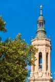 我们的夫人柱子-天主教堂,萨瓦格萨,西班牙大教堂大教堂  特写镜头 图库摄影