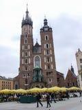 我们的夫人Assumed教会到天堂里在克拉科夫在波兰 免版税库存图片