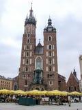 我们的夫人Assumed教会到天堂里在克拉科夫在波兰 免版税库存照片