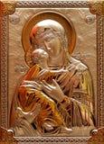 我们的夫人Immaculate With God 免版税库存图片