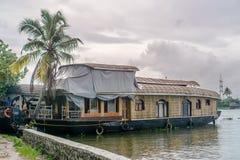 我们的居住船在Appelley喀拉拉,印度 免版税库存图片