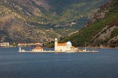 我们的岩石的夫人海岛  黑山 免版税库存图片