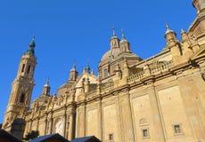 我们的柱子的夫人大教堂大教堂  萨瓦格萨 西班牙 库存照片