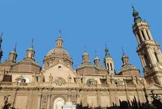 我们的柱子的夫人大教堂大教堂  萨瓦格萨 西班牙 库存图片
