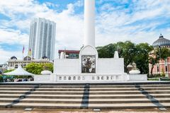 我们的独立报广场的第一位总理东姑阿都拉曼的图片 免版税库存照片