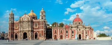 我们的瓜达卢佩河的夫人大教堂正方形在墨西哥城 图库摄影