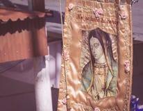 我们的瓜达卢佩河的夫人的图象 库存图片