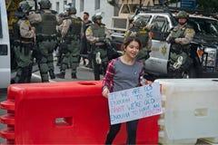 我们的生活运动` s行军的3月在街市洛杉矶 库存照片