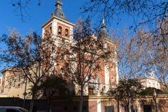我们的阿托查的夫人大教堂在市马德里,西班牙 免版税库存照片