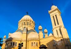 我们的非洲大教堂的夫人在阿尔及尔,阿尔及利亚 免版税库存照片