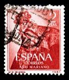 我们的非洲,特内里费岛,玛丽亚年serie的夫人,大约1954年 免版税图库摄影