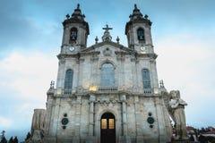 我们的Sameiro的夫人大教堂的建筑细节在拉格附近的 库存照片