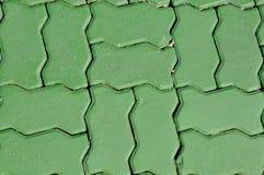 我做了†‹â€ ‹砖走道 库存照片