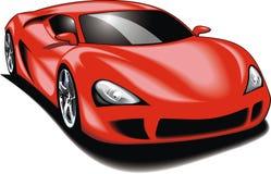 我原始的跑车(我的设计)在红颜色 图库摄影