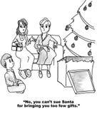 我可以起诉圣诞老人? 库存照片