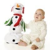 我和我的雪人 免版税库存图片
