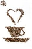 我咖啡的爱 免版税库存图片