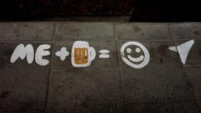 我喜欢啤酒 免版税库存图片