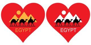 我喜欢埃及 库存照片