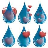 我喜欢新和纯净的水的汇集水爱 免版税图库摄影