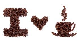 我喜欢的咖啡 免版税库存照片