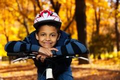 我喜欢自行车乘驾 库存照片