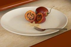 我对方式的显示番茄 免版税库存照片